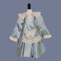 Wonderful Doll Dress Jacket and Skirt  Artist Made French Market Fancy Lace Lined