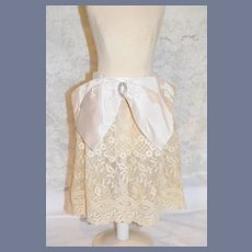 Gorgeous Doll Lace Apron W/ Fancy Bow