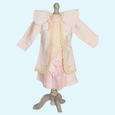 Sweet Doll Dress Pretty in Pink Sweet Drop Waist dress with a matching Coat or Jacket French Market