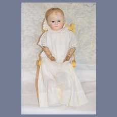 Antique Doll Oil Cloth Martha Chase Dressed Charming