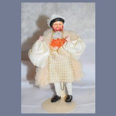 Vintage Doll King Henry VIII Character Period Clothing