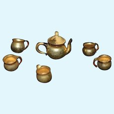Miniature Gold Teapot Set