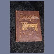 "Miniature ""Looking Unto Jesus"" Hard Back Book"