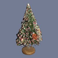 Miniature Decorated Christmas Tree for Dollhouse Decorations