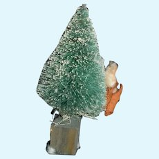 Miniature Green Christmas Tree With White Frost