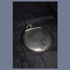 """Miniature Sterling Silver Blush Container with """"AD"""" Monogrammed"""