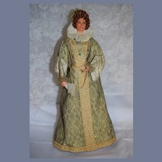 Vintage Queen Elizabeth Wife of King Henry VIII of England Fancy Clothing