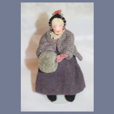 Vintage Cloth Doll Cottage Craft Tweeds W/ Original Tag