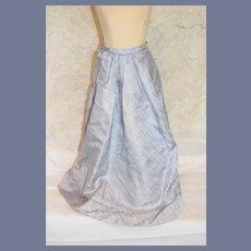 Light Blue Silk Doll Skirt