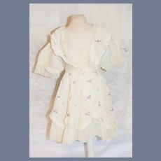 Beautiful White Embroidered Flower Doll Dress
