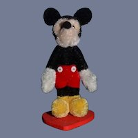 Sweet Mickey Mouse Teddy Bear Jointed Miniature Dollhouse Artist
