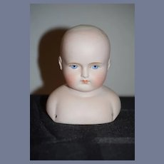 Antique Doll Bisque Head Solid Dome Gorgeous Face