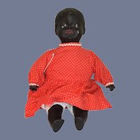 Wonderful Vintage Black Character Doll Sculpted Face Glass Eyes Liz Smith