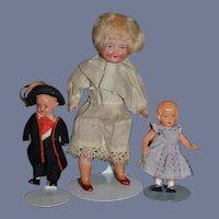 Vintage Doll Set Celluloid Three Dolls
