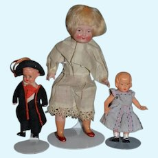 Vintage Doll Set Celluloid Three Dolls