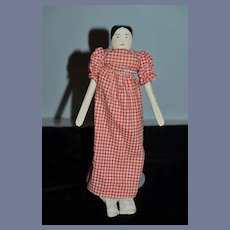 Vintage Doll Wood Jointed Pegged Carved