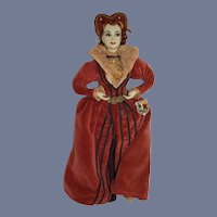 Vintage Doll Anne Boleyn Queen Of England Second Wife of King Henry VIII Ottenberg Doll Sculpted