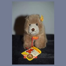 Vintage Teddy Bear Steiff Browny 1445/12 Doll Friend W/ Button Tag and String Tags