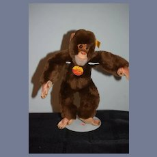 Vintage JOCKO Steiff Monkey Button Tag Chest Tag Sweet