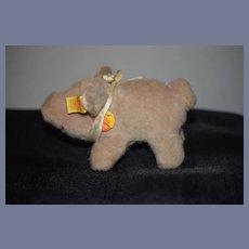 Vintage Steiff Pig Piggy Button Tag Chest Tag Sweet