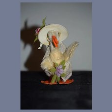 Old Mohair Duck Dressed Stuffed Animal Steiff?