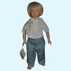 Original Heidi Ott Vintage Artist Boy Doll W/ String Tag