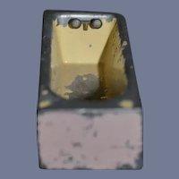 Miniature Metal Bathtub