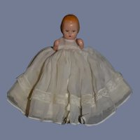 Miniature Plastic Baby Doll with Sleep Eyes