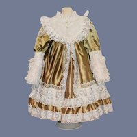 Sweet Doll Dress Lace & Satin Hand Made