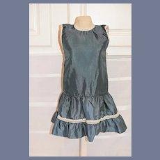 Beautiful Blue Silk Doll Dress