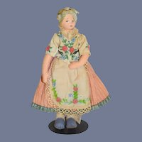 Beautiful Blonde Cloth Doll in Traditional Dress