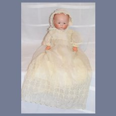 Antique Doll Bisque Head Dream Baby Solid Dome Dressed Sweet