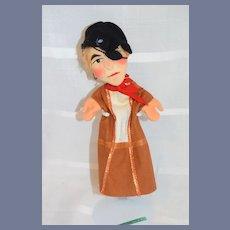 Vintage Doll Puppet Kersa W/ String Tag German Pirate
