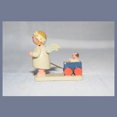 Miniature Wood Carved and Painted Dolls