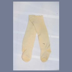 Pair of Old Cream Doll Socks