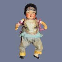 Old Little Oriental Bisque Doll