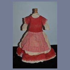 Red and Cream Doll Dress