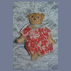 Wonderful Vintage Teddy Bear Jointed Sweet Face Button Eyes