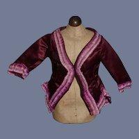 Stunning Violet Purple Doll Jacket