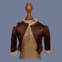 Beautiful Brown Silk Doll Jacket