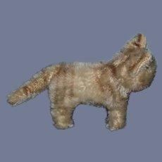 Old Miniature Mohair Cat Green Eyes Stuffed Animal