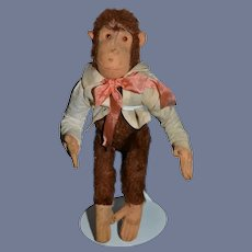 Old Sweet Jointed Mohair Monkey Dressed Steiff ??