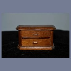 Miniature Wood Dresser with Two Drawers