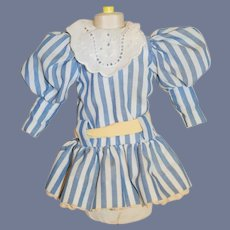 Sweet Vintage Drop Waist Cotton Doll dress Puffy Sleeves