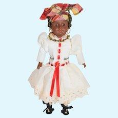 Wonderful French Bisque Black SFBJ Doll Petite Size