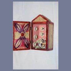 Folk Art Miniature Wood Doll Hat Shop Milliner's Shop Dollhouse Diorama