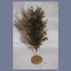 Old Miniature Doll Feather Tree Dollhouse German Marked
