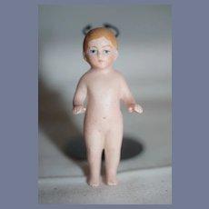 Antique Doll Miniature All Bisque Frozen Charlie Dollhouse