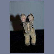 Petite Vintage Mohair Zebra Doll Companion