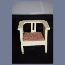 Old Doll Wood Miniature Arm Chair Dollhouse